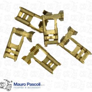 KIT 5 CAPOCORDA FASTON INNESTO A BANDIERA, FESSURA DA 6,3 MM,VESPA - APE.